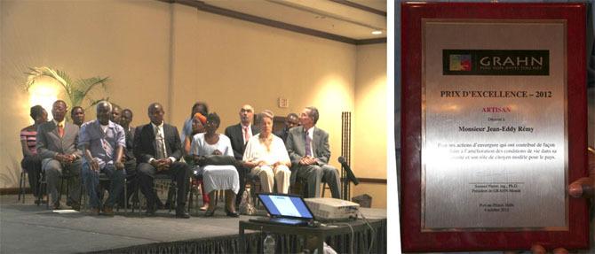 Prix d'Excellence en Artisanat 2012 décerné à Jean-Eddy Rémy