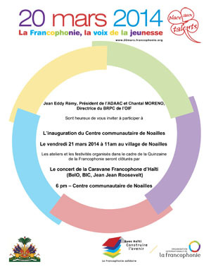 Inauguration du Centre communautaire de Noailles, 21 mars 2014