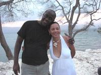 Kossi et Barbara, au Lac Azeui